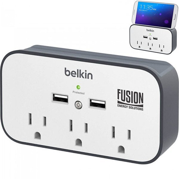 Belkin® USB Wall Mount Surge Protector with Cradle