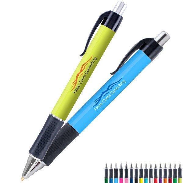 Vision Comfort Grip Color Barrel EverSmooth Ink® Pen w/ Full Color Imprint