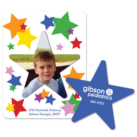 Star Picture Frame Magnet - Full Color Custom Design