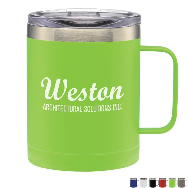 Vicenza Double Wall Stainless Steel Vacuum Insulated Mug, 14oz.