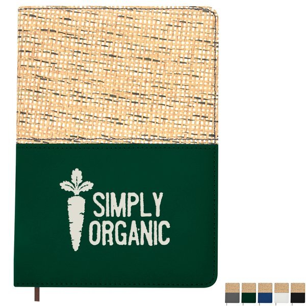 "Baley Lined Straw Accent Journal, 5-1/8"" x 7-1/8"""