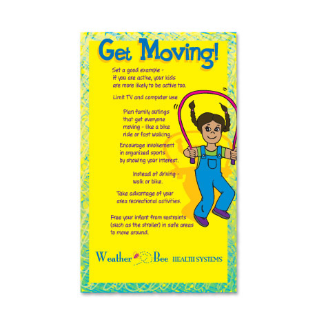 Healthy Message Magnet™­, Get Moving!
