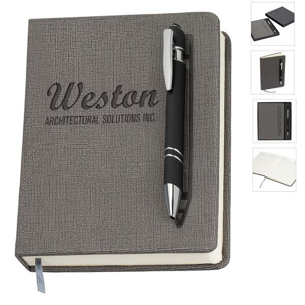 """Manhattan Gift Set w/ Magnetic Journal and Pen, 5"""" x 7"""""""