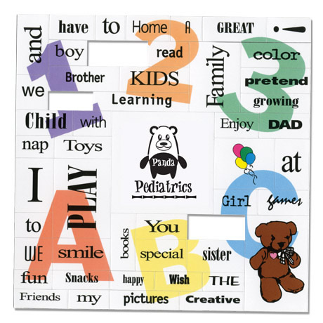 Word Game Magnet Full Color, Kids Design