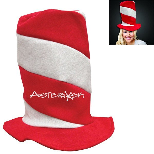 Candy Cane Stove Pipe Hat
