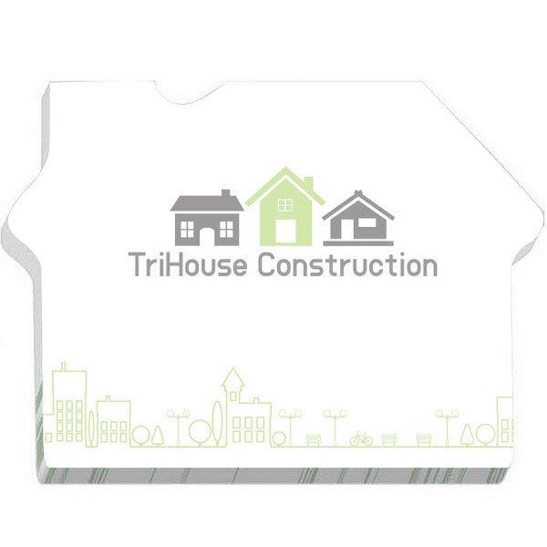 "BIC® House Shape Adhesive Notepad, 3"" x 4"", 25 Sheets"