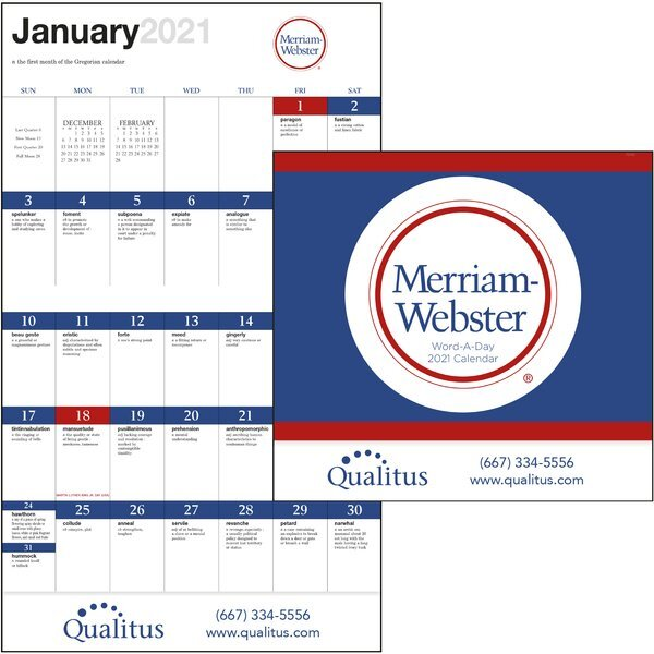 Merriam-Webster Word-A-Day Good Value Appointment Calendar