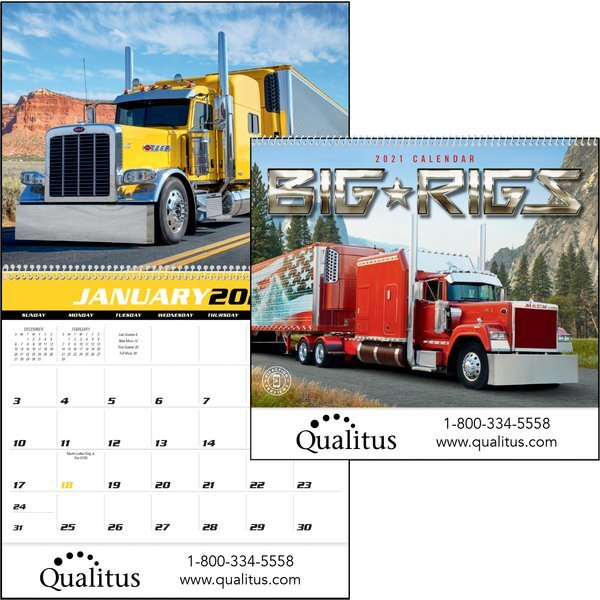 Big Rigs Wall Calendar