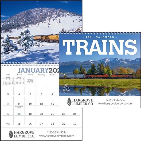 Trains Wall Calendar