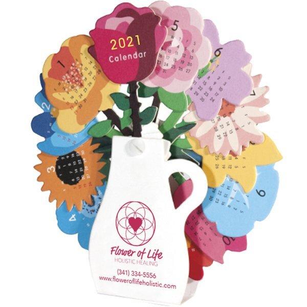 Flower Vase Desk Calendar