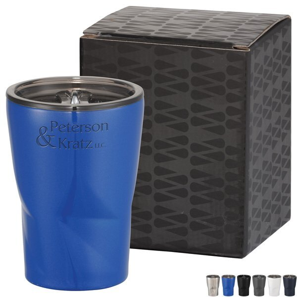 Glacier Copper Vacuum Tumbler w/Gift Box, 12 oz.