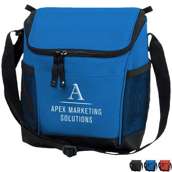 Designer 8 Can Polyester Cooler Bag