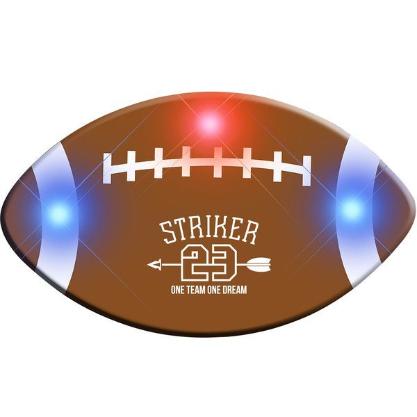 Football Flashing LED Lapel Pin