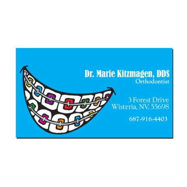 Smile with Braces Design Full Color Magnet