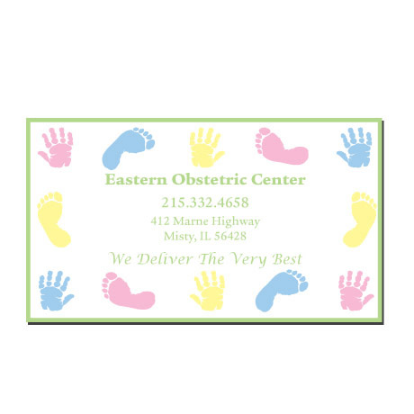 Baby Hand & Footprints Design Full Color Magnet