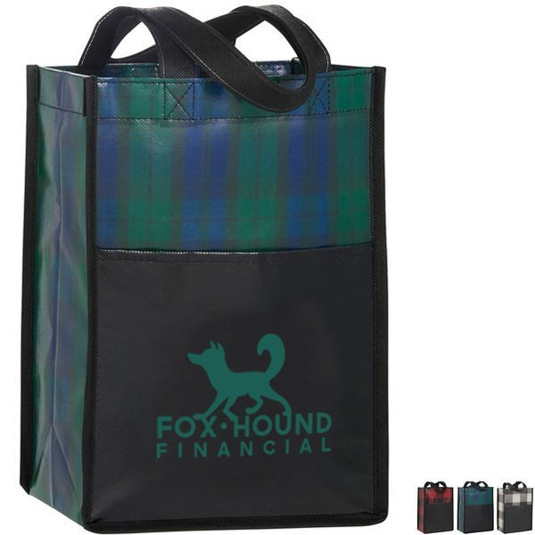 Buffalo Plaid Non-Woven Mini Gift Tote