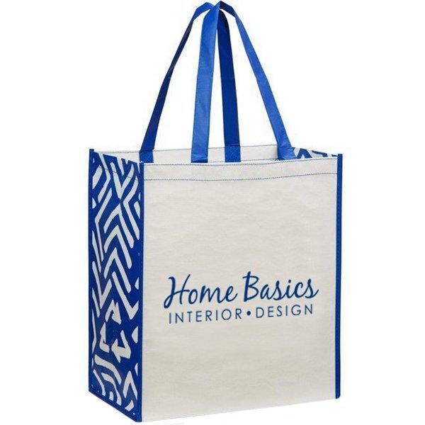 Laminated 100% Recycled Shopper, Royal Blue