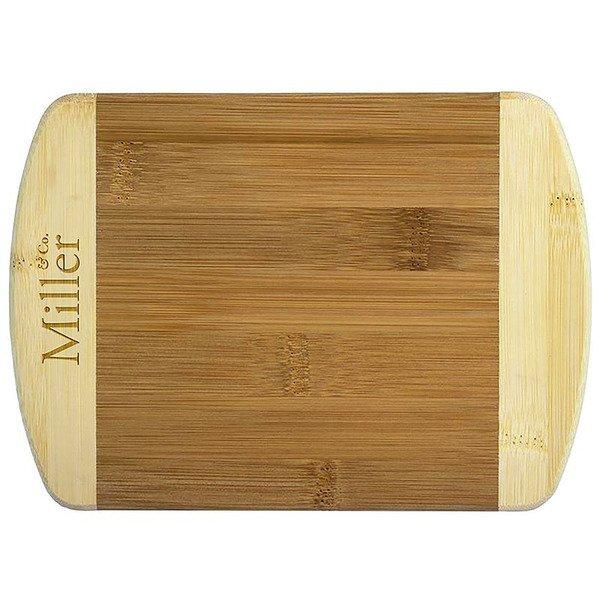"Two Tone Bamboo Bar Board, 8"""
