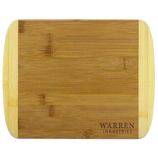 """Two Tone Bamboo Cutting Board, 11"""""""