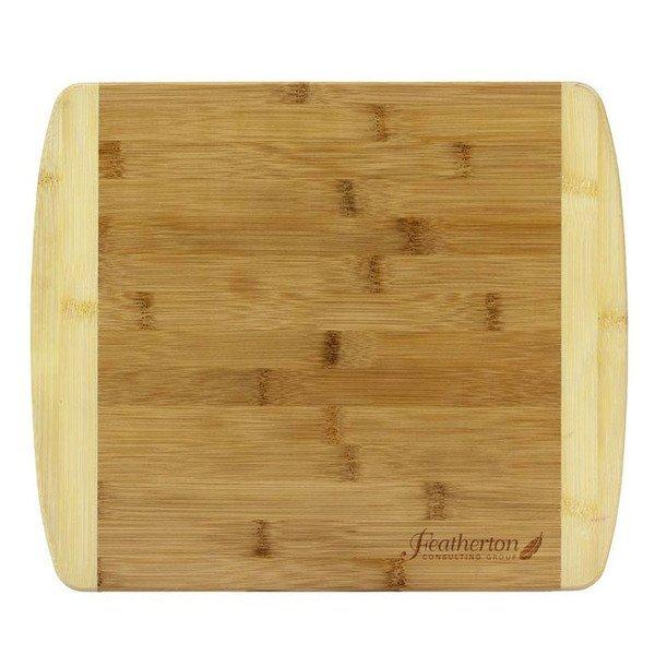 """Two Tone Bamboo Cutting Board, 13"""""""