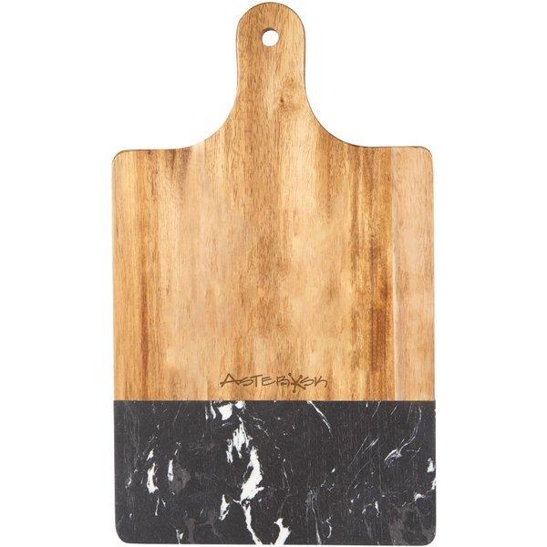Black Marble & Wood Cutting Board