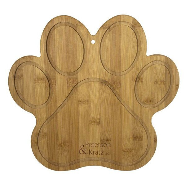 Paw Bamboo Cutting Board