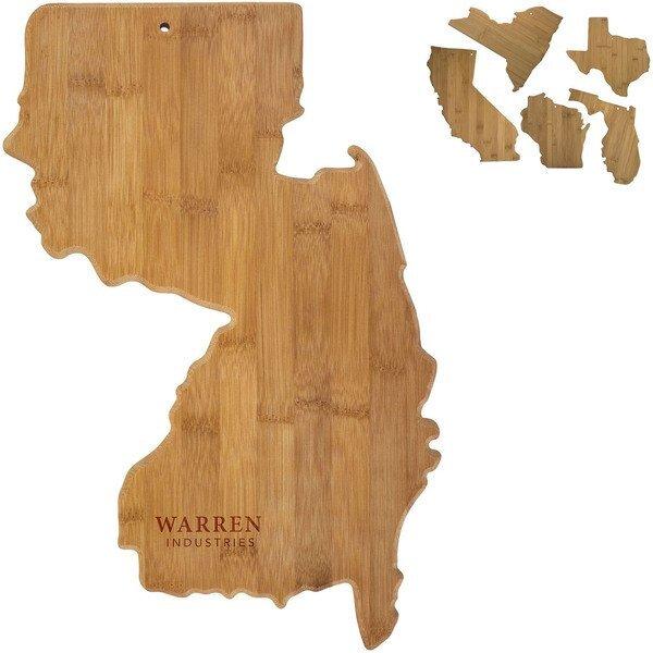 State Shape Bamboo Cutting Board