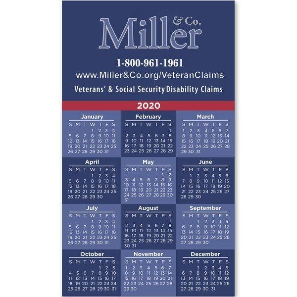 "Square Corner Calendar Magnet 3-1/2"" x 6"""