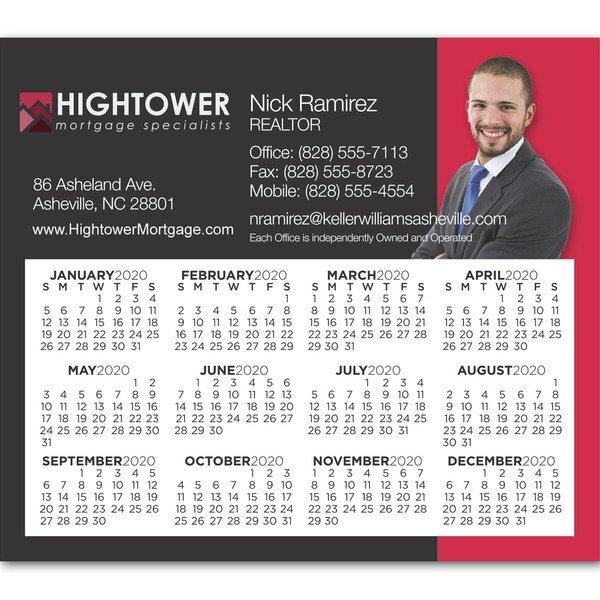 "Square Corner Calendar Magnet 3-13/32"" x 3-29/32"""