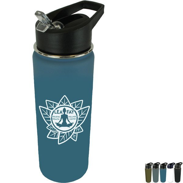 Halcyon® Sports Bottle w/Flip Straw Lid, 20 oz.