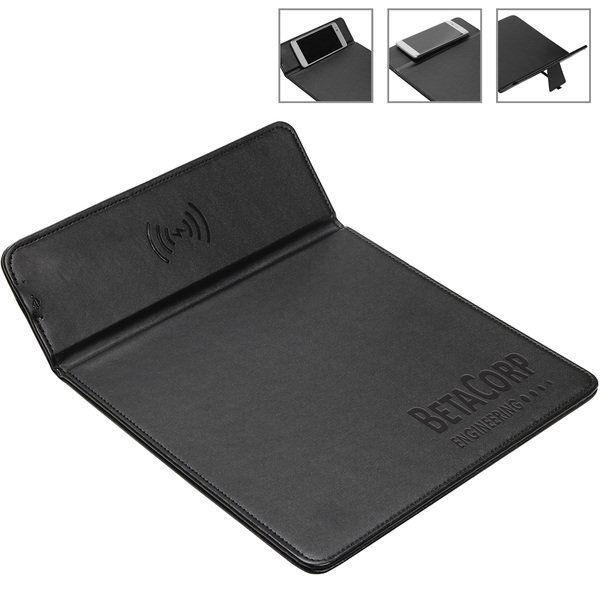 Wireless Charger Mouse Pad w/ Kickstand