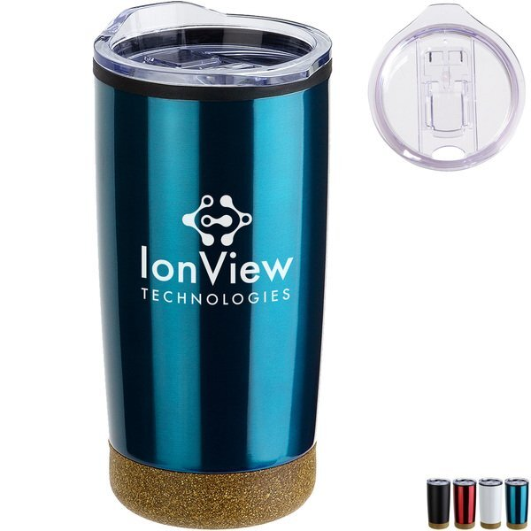 York Stainless Steel/Polypropylene Tumbler w/ Cork Base, 20oz.