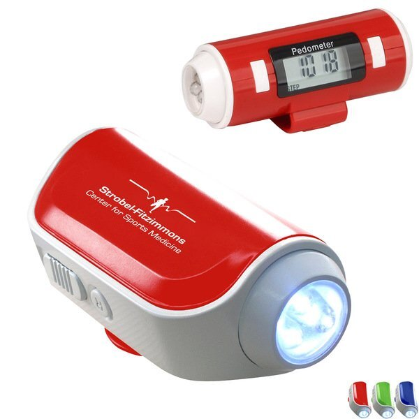 Walk Safe Pedometer with Flashlight & Siren