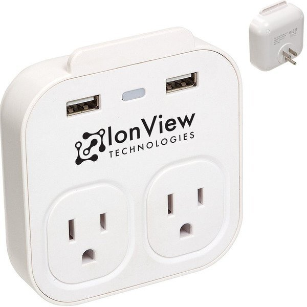 Console USB & Standard Plug Wall Charger w/ Phone Holder