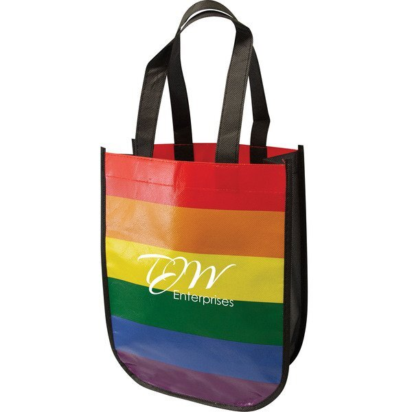 Rainbow Recycled Laminated Non-Woven Tote