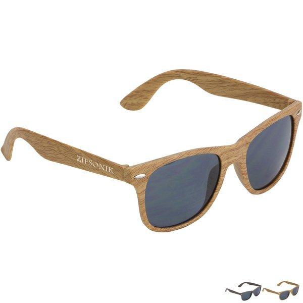 Sebring UV400 Wood Grain Sunglasses