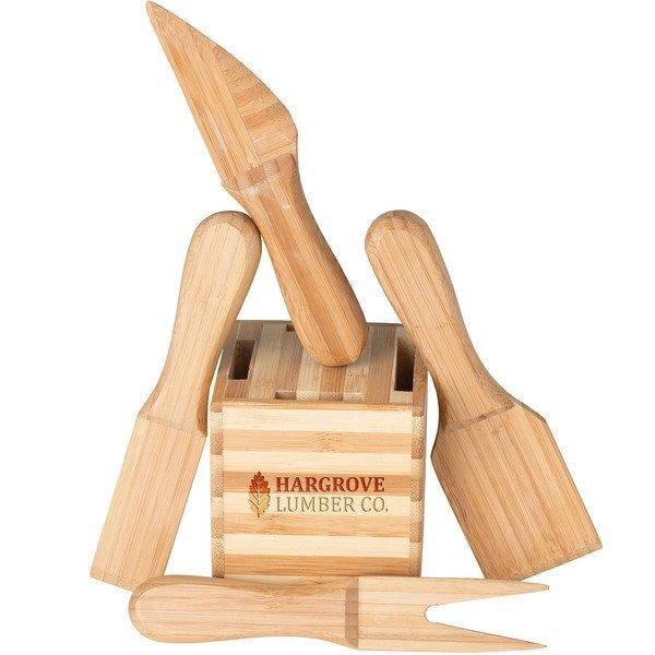 CheeseMate Bamboo Cheese Tool Set
