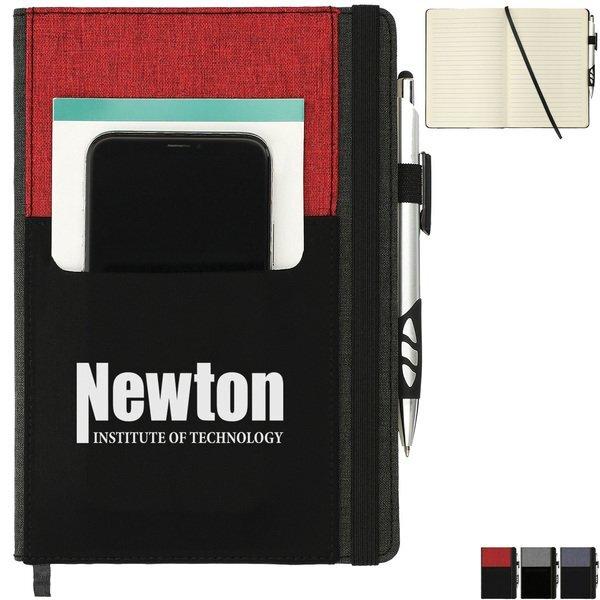 "Graphite Phone Pocket Notebook, 8"" x 5.5"""