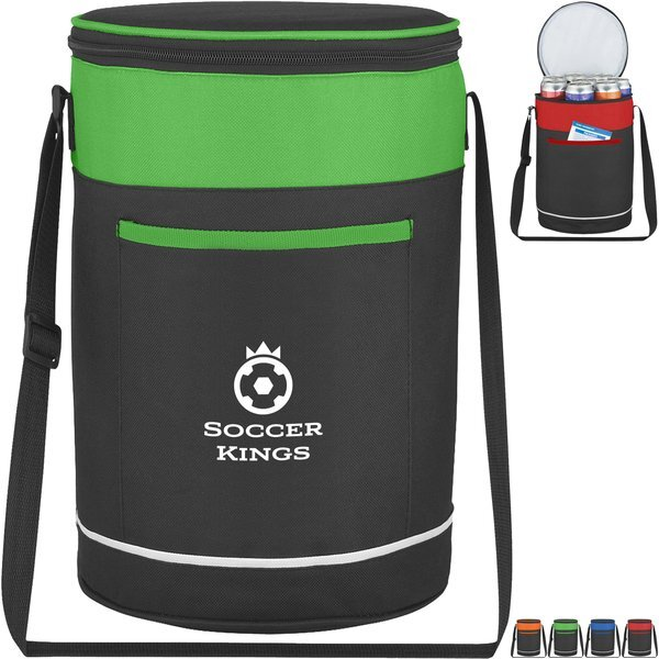 Barrel Buddy Polyester 14-Can Round Cooler Bag