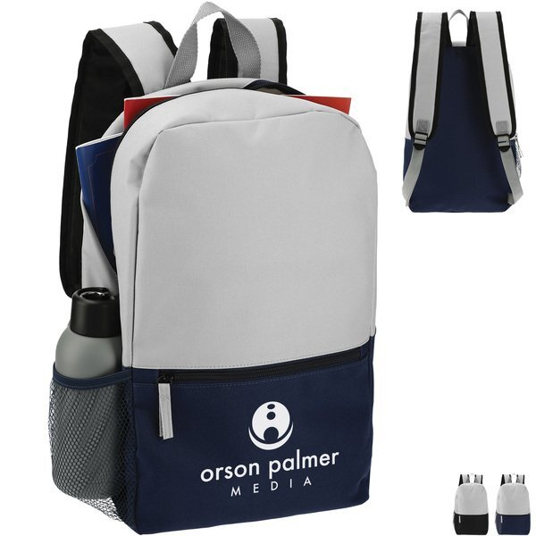 Two Toned Polycanvas Backpack