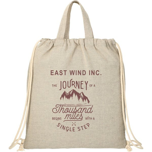 Recycled Cotton Drawstring Bag, 4 oz.