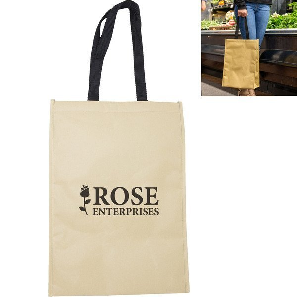 Kraft Paper Insulated Grocery Tote