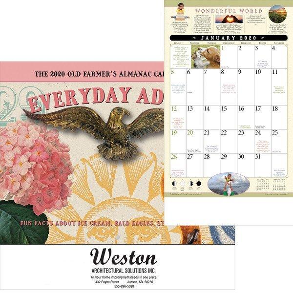 The Old Farmer's Alamanac Everyday Advice Wall Calendar