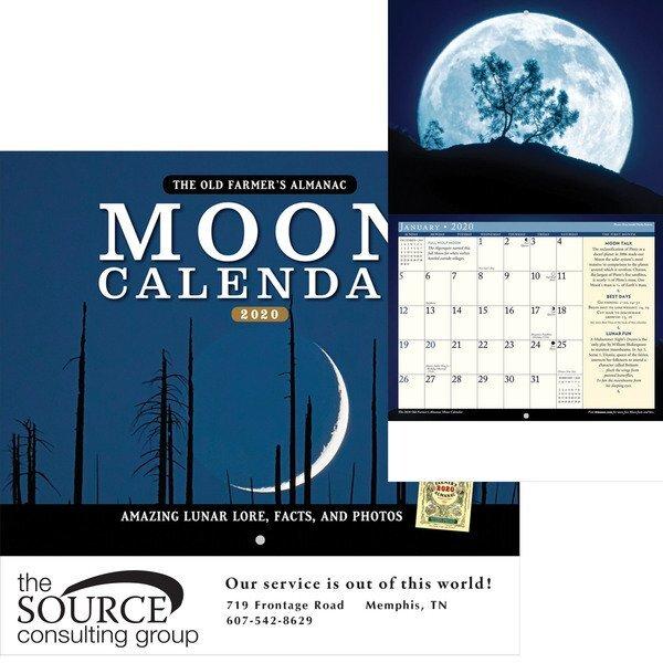 The Old Farmer's Alamanac Moon Wall Calendar
