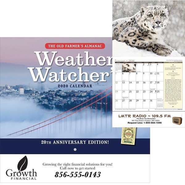 The Old Farmer's Alamanac Weather Watcher's Wall Calendar