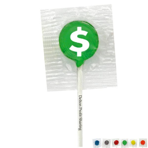 Dollar Sign Design, Custom Lollipops