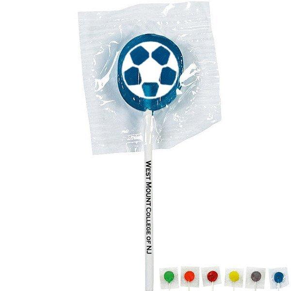 Soccer Ball Design, Custom Lollipops
