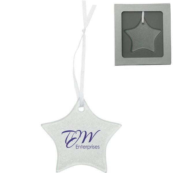 Hammered Glass Star Ornament