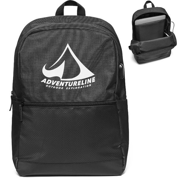 Tech Squad Polyester USB Backpack
