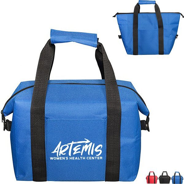 Collapsible 20-Can Polyester Cooler Tote